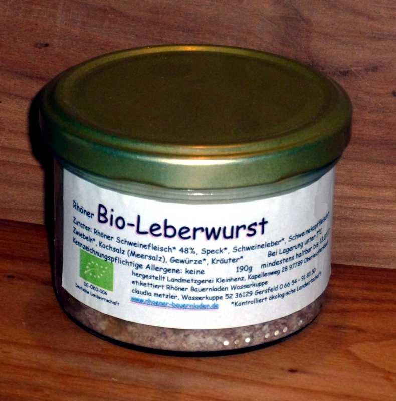 Rhöner Leberwurst im Glas