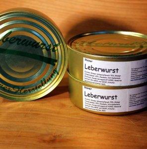Rhöner Leberwurst in der Dose