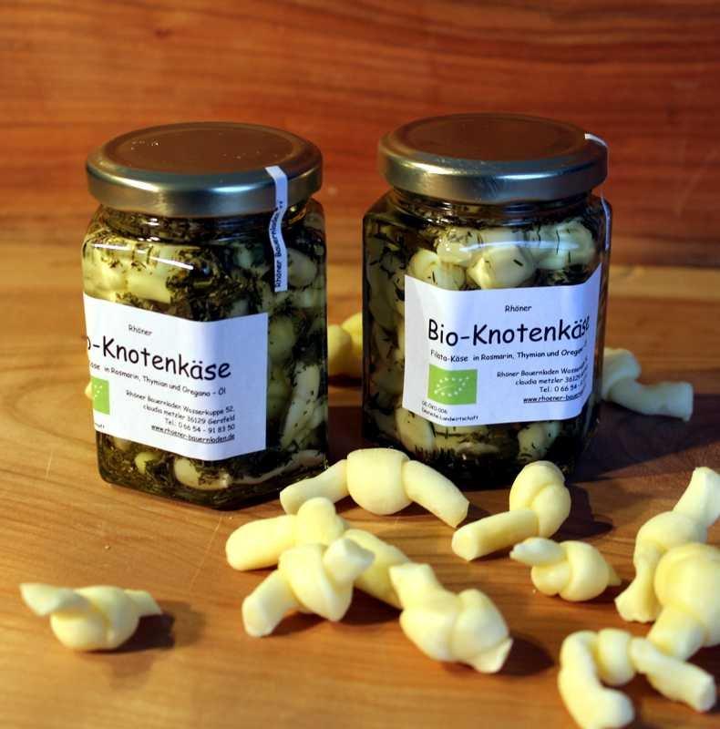 Bio-Knotenkäse in Kräuter-Öl