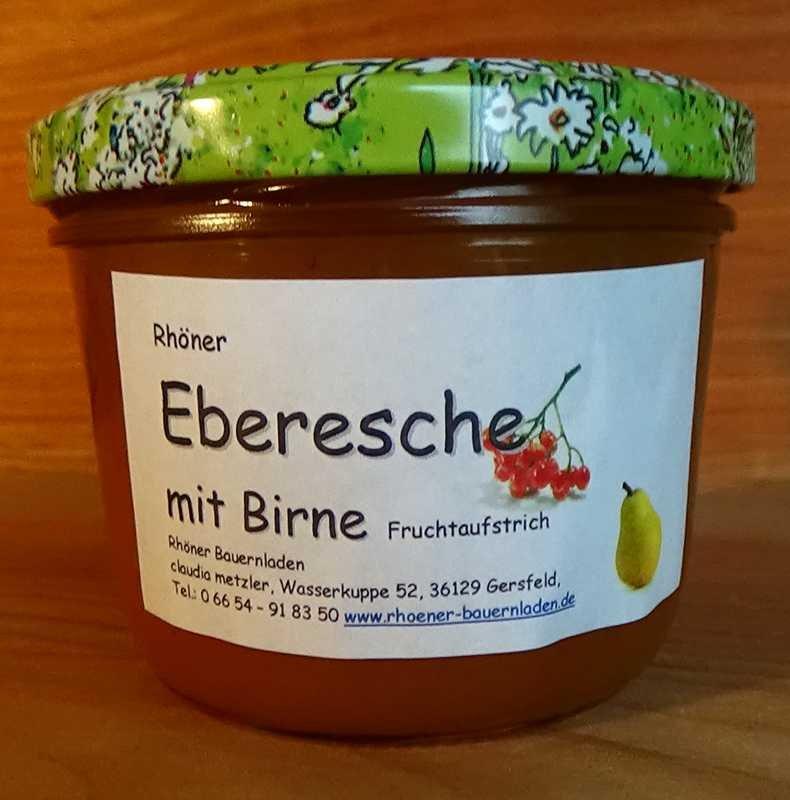 Rhöner Eberesche-Birne Fruchtaufstrich
