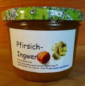 Pfirsich-Ingwer Fruchtaufstrich