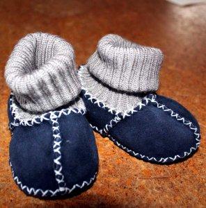 Babyschuhe aus Fell