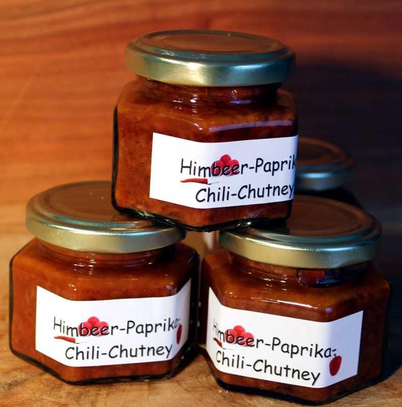 Rhöner Himbeer-Paprika-Chili-Chutney