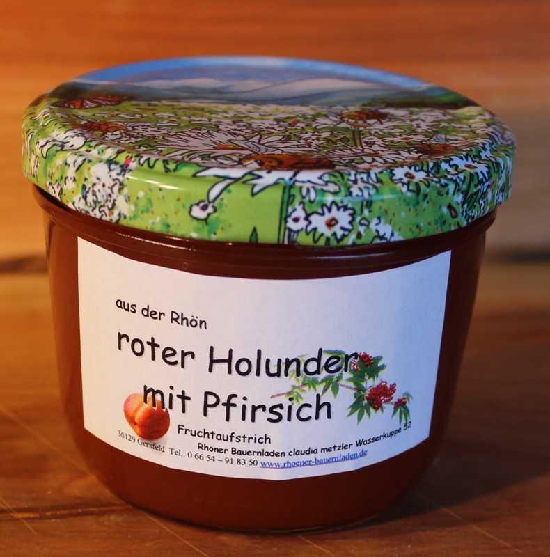 Rhöner roter Holunder mit Pfirsich